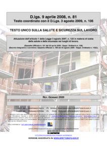 Testo Unico 81-08 Versione Gennaio 2020