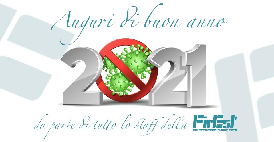 Auguri di buon anno 2021 da parte di tutto lo staff della FirEst!