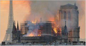 Incendio Notre Dame di Parigi