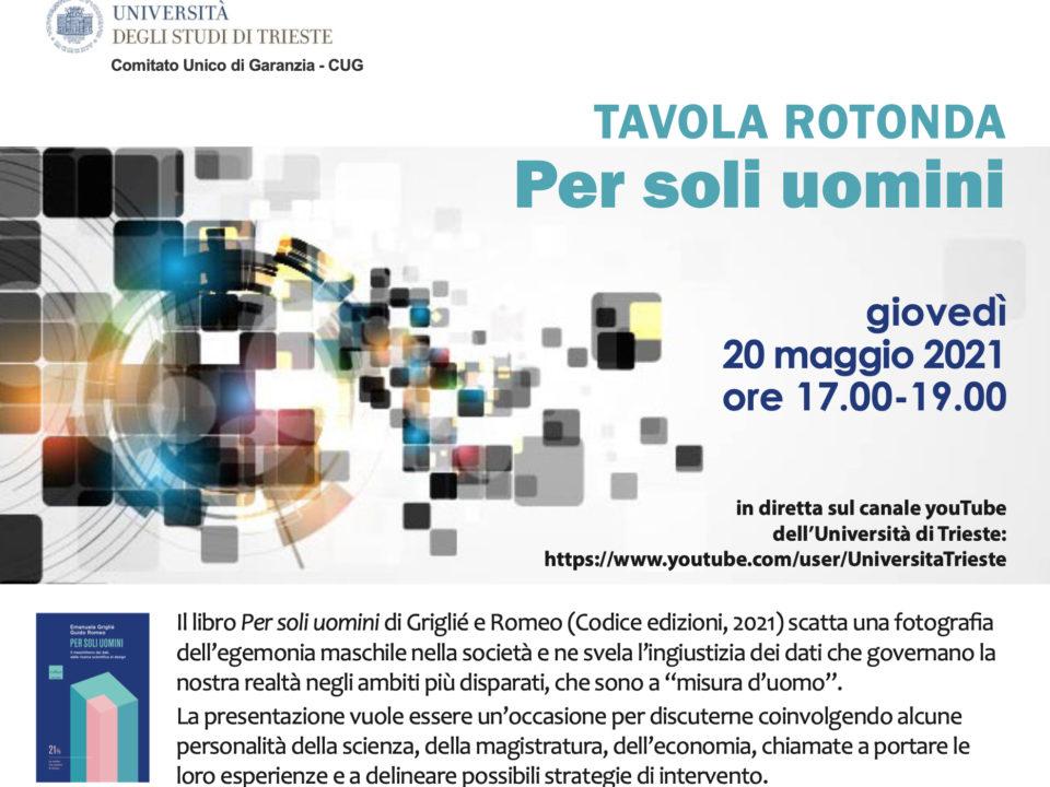 Locandina presentazione libro PER SOLI UOMINI